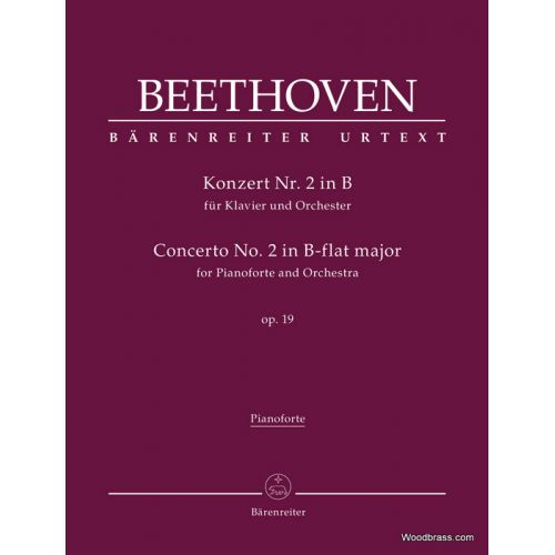 BARENREITER BEETHOVEN L.V. - KONZERT Nr.2 IN B OP.19 - PIANO REDUCTION