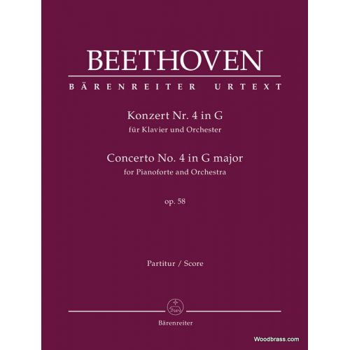 BARENREITER BEETHOVEN L.V. - CONCERTO FOR PIANOFORTE N°4 G MAJOR OP.58 - SCORE