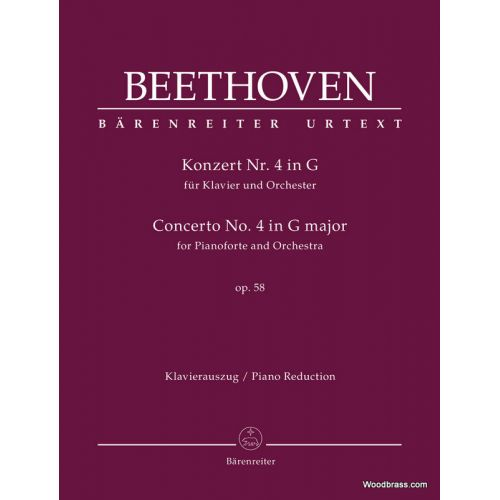 BARENREITER BEETHOVEN L.V. - CONCERTO FOR PIANOFORTE N°4 G MAJOR OP.58 - 2 PIANOS
