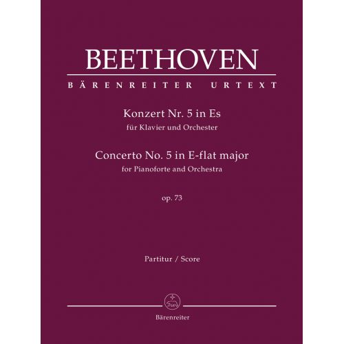BARENREITER BEETHOVEN L.V. - CONCERTO FOR PIANOFORTE AND ORCHESTER N°5 OP.73 - SCORE