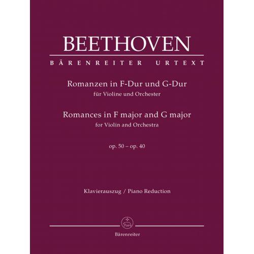 BARENREITER BEETHOVEN - ROMANZEN IN F-DUR UND G-DUR OP.50 & 40