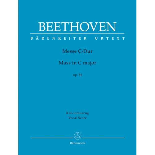 BARENREITER BEETHOVEN L.V. - MASS C MAJOR OP.86 - VOCAL SCORE