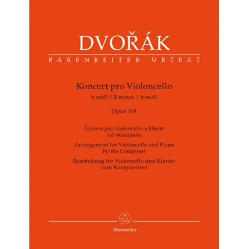 BARENREITER DVORAK - KONCERT PRO VIOLONCELLO h moll OP.104