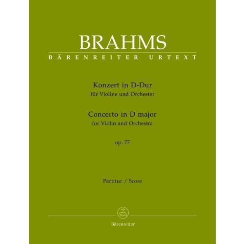 BARENREITER BRAHMS JOHANNES - KONZERT IN D-DUR FüR VIOLINE UND ORCHESTER OP. 77 - VIOLIN UND ORCHESTRA
