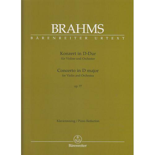 BARENREITER BRAHMS J. - KONZERT IN D-DUR OP. 77 - VIOLON, PIANO