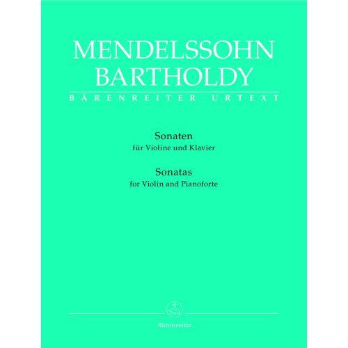 BARENREITER MENDELSSOHN BARTHOLDY F. - SONATEN - VIOLINE, KLAVIER