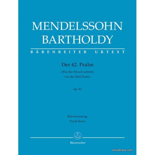 BARENREITER MENDELSSOHN F. - DER 42. PSALM