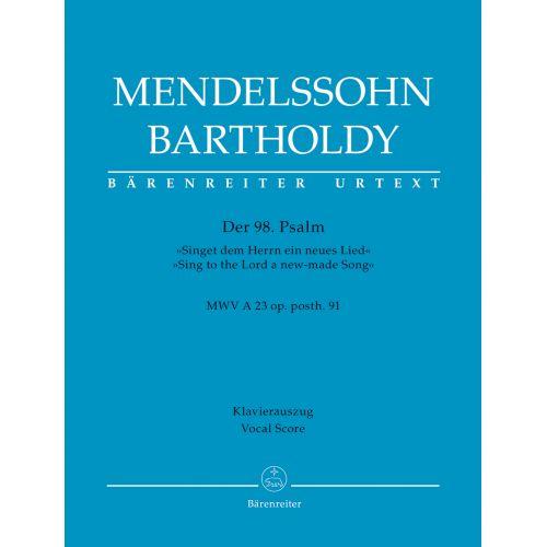BARENREITER MENDELSSOHN F. - PSALM 98