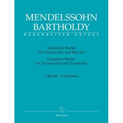 BARENREITER MENDELSSOHN FELIX - COMPLETE WORKS FOR VIOLONCELLE AND PIANOFORTE VOL.1 & 2