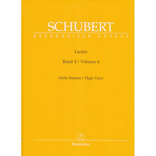 BARENREITER SCHUBERT F. - LIEDER VOL.4 - HIGH VOICE, PIANO