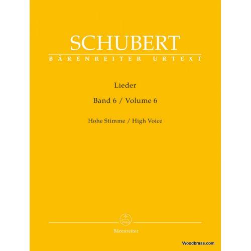 BARENREITER SCHUBERT F. - LIEDER VOL.6 - HIGH VOICE