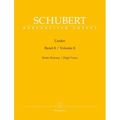 BARENREITER SCHUBERT FRANZ - LIEDER VOL.8 - HIGH VOICE