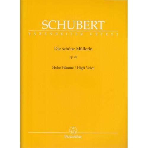 BARENREITER SCHUBERT F. - DIE SCHONE MULLERIN - VOIX HAUTE ET PIANO