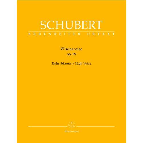 BARENREITER SCHUBERT - WINTERREISE OP.89 D 911 - HOHE STIMME, KLAVIER