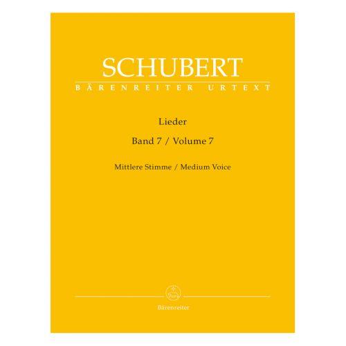 BARENREITER SCHUBERT F. - LIEDER VOL. 7 - MEDIUM VOICE