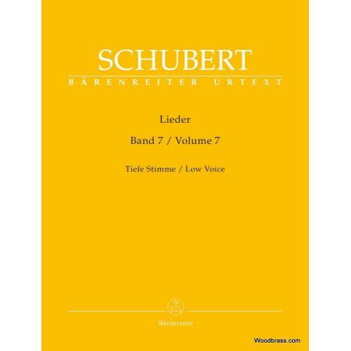BARENREITER SCHUBERT FRANZ - LIEDER VOL.7 - TIEFE STIMME / LOW VOICE