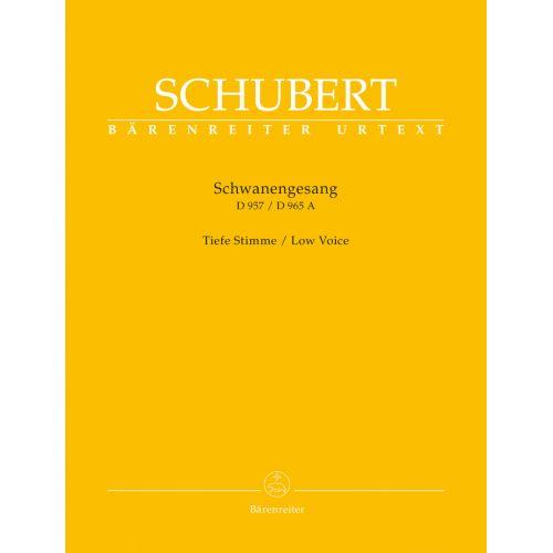 BARENREITER SCHUBERT F. - SCHWANENGESANG D 957 / DIE TAUBENPOST D 965 A - LOW VOICE