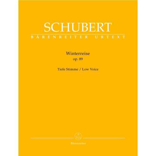 BARENREITER SCHUBERT F. - WINTERREISE OP.89 D 911 - LOW VOICE, PIANO