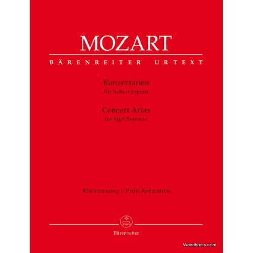BARENREITER MOZART W.A. - CONCERT ARIAS - HIGH SOPRANO