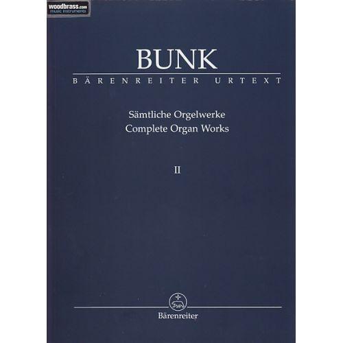 BARENREITER BUNK GERARD - SAMTLICHE ORGELWERKE, BAND 2
