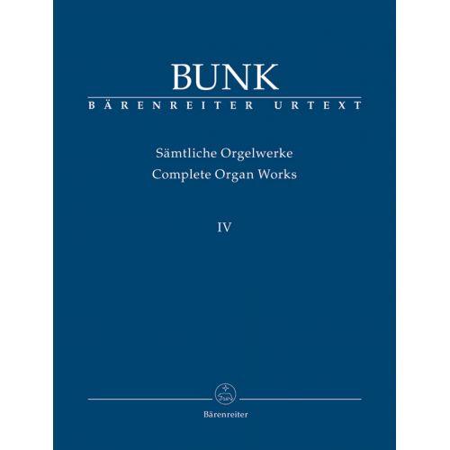 BARENREITER BUNK GERARD - ORGAN WORKS VOL.4
