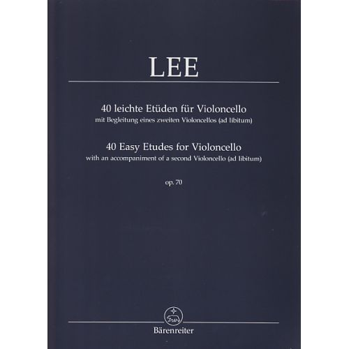 BARENREITER LEE S. - 40 LEICHTE ETÜDEN FÜR VIOLONCELLO