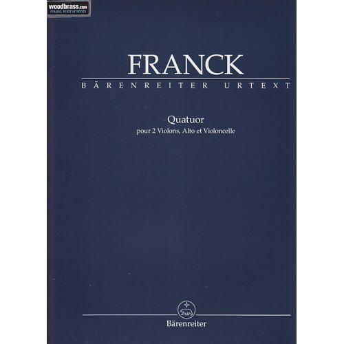 BARENREITER FRANCK CESAR - QUATUOR pour 2 violons, Alto et Violoncelle