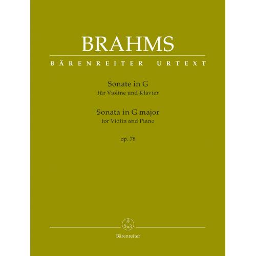 BARENREITER BRAHMS J. - SONATA IN G MINOR OP.78 - VIOLON & PIANO