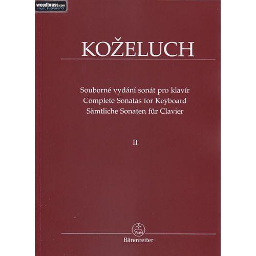 BARENREITER KOZELUCH L. - COMPLETE SONATAS FOR KEYBOARD VOL.2