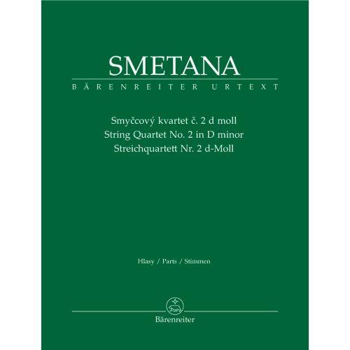 BARENREITER SMETANA BEDRICH - STREICHQUARTETT NR. 2 D-MOLL - VIOLINE, VIOLA, VIOLONCELLO