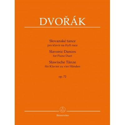 BARENREITER DVORAK A. - SLAVONIC DANCES OP.72 - PIANO 4 MAINS