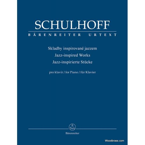 BARENREITER SCHULHOFF ERWIN - JAZZ INSPIRED WORKS FOR PIANO