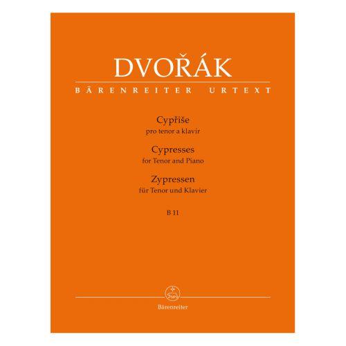 BARENREITER DVORAK A. - CYPRESSES B 11 - FOR TENOR & PIANO