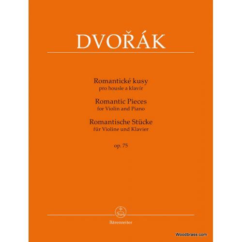 BARENREITER DVORAK A. - ROMANTIC PIECES OP.75 - VIOLON & PIANO