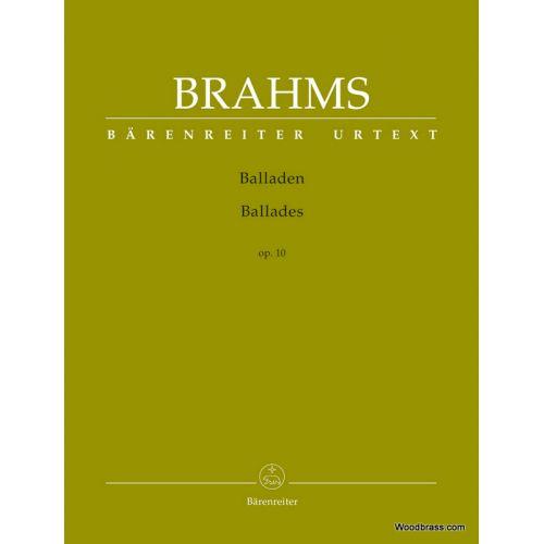 BARENREITER BRAHMS JOHANNES - BALLADES OP.10 - PIANO