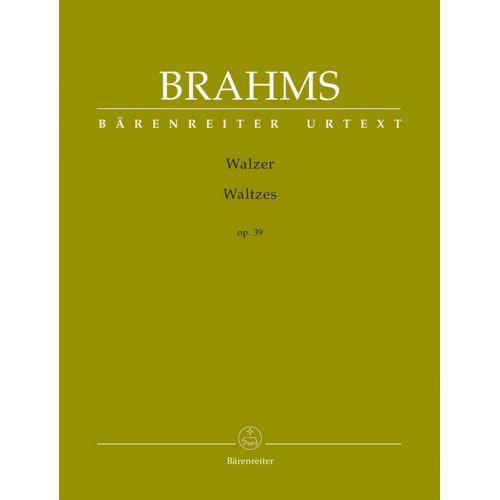 BARENREITER BRAHMS JOHANNES - WALZER OP.39