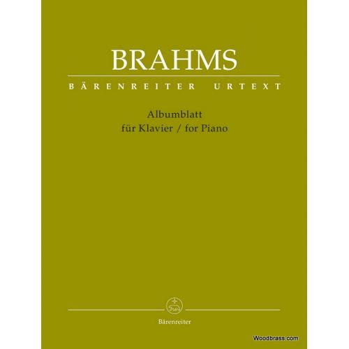 BARENREITER BRAHMS J. - ALBUMBLATT FOR PIANO