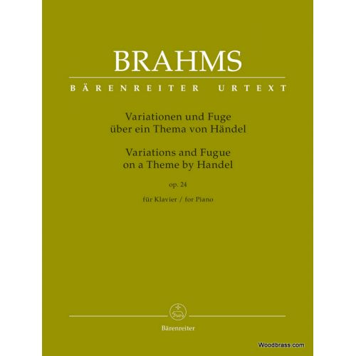 BARENREITER BRAHMS J. - VARIATIONS AND FUGUE ON A THEME BY HANDEL - PIANO