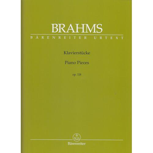 BARENREITER BRAHMS JOHANNES - KLAVIERSTÜCKE OP.118 - PIANO