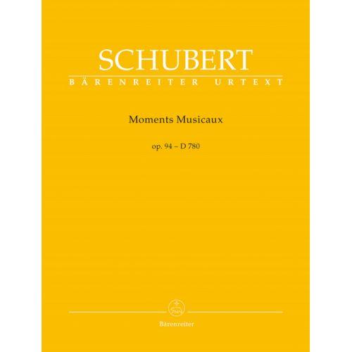 BARENREITER SCHUBERT FRANZ - MOMENTS MUSICAUX OP.94 D 780