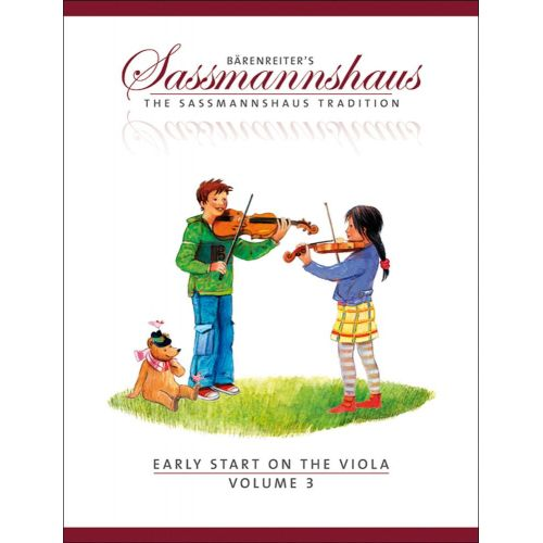 BARENREITER SASSMANNSHAUS EGON & KURT - EARLY START ON THE VIOLA VOL.3