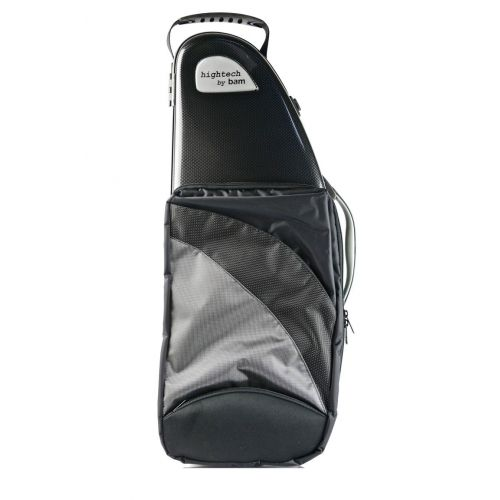 BAM HIGHTECH ALTO SAXOPHONE CASE WITH POCKET - BLACK CARBON LOOK