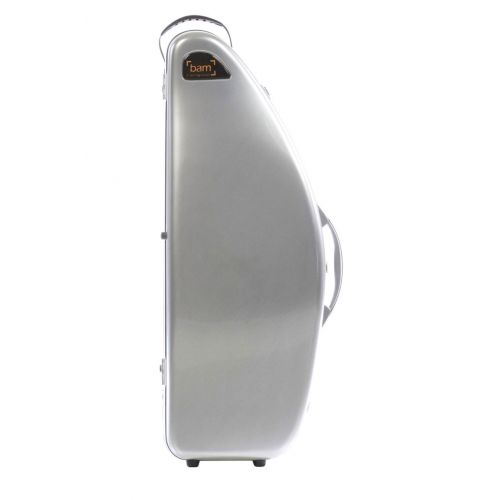 BAM LA DEFENSE HIGHTECH TENOR SAXOPHONE CASE WITHOUT POCKET - BRUSHED ALUMINUM