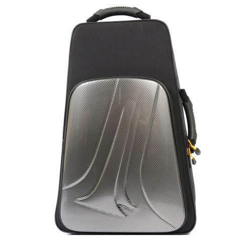 BAM NEW TREKKING 2 TRUMPETS CASE - SILVER CARBON LOOK