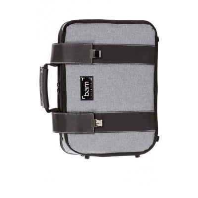 BAM HIGHTECH 2 BB & A CLARINETS CASE - GREY FLANNEL