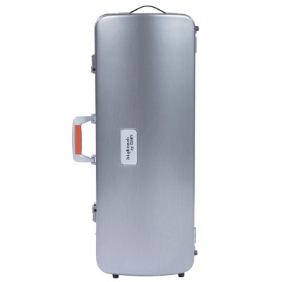 BAM LA DEFENSE HIGHTECH OBLONG VIOLA CASE - BRUSHED ALUMINUM