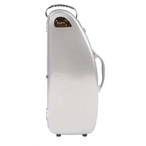BAM LA DEFENSE HIGHTECH ALTO SAXOPHONE CASE WITHOUT POCKET - BRUSHED ALUMINUM