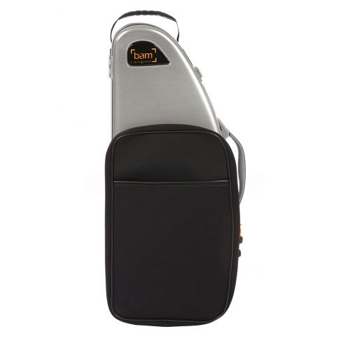 BAM LA DEFENSE HIGHTECH ALTO SAXOPHONE CASE WITH POCKET - BRUSHED ALUMINUM