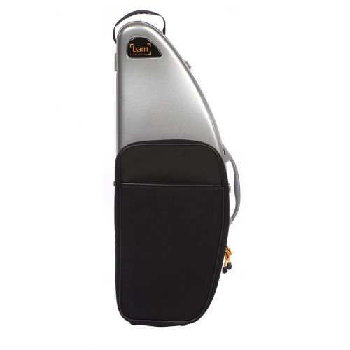 BAM LA DEFENSE HIGHTECH TENOR SAXOPHONE CASE WITH POCKET - BRUSHED ALUMINUM