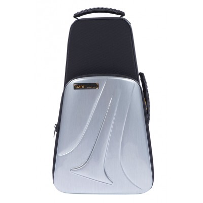 BAM NEW TREKKING 1 TRUMPET CASE - BRUSHED ALUMINUM